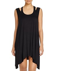 J. Valdi Tank Dress Swim Cover Up Black