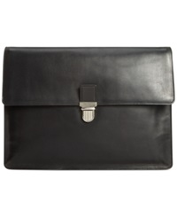 Cole Haan Smooth Leather Large Portfolio Bag Black