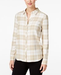 G.H. Bass And Co. Plaid Shirt French Vanilla Combo