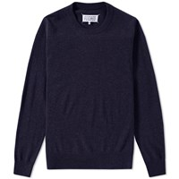 Maison Martin Margiela 14 Elbow Patch Crew Knit Blue