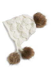 Women's Linda Richards Genuine Raccoon Fur Earflap Hat