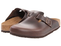 Birkenstock Boston Soft Footbed Unisex Brown Amalfi Leather Clog Shoes Gray
