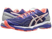 Asics Gel Kayano 23 Lite Show Blue Silver Flash Coral Women's Running Shoes