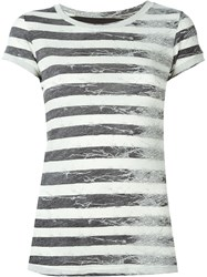 Maison Martin Margiela Mm6 Maison Margiela Striped T Shirt Black
