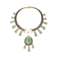 Tory Burch Runway Oxidized Metal Statement Necklace