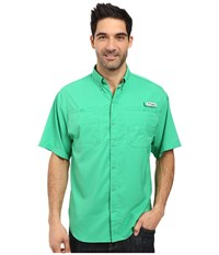 Columbia Tamiami Ii S S Dark Lime Men's Short Sleeve Button Up Green