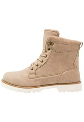 Your Turn Laceup Boots Beige