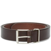 Andersons Anderson's Slim Leather Belt Mahogany