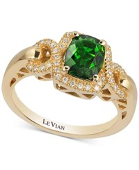 Le Vian Chrome Diopside 1 1 3 Ct. T.W. And Diamond 1 6 Ct. T.W. Ring In 14K Gold Yellow Gold