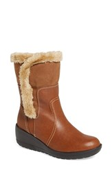 Women's Softspots 'Corby' Waterproof Wedge Boot Whiskey Tan Leather