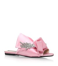N 21 No. 21 Satin Bow Flower Slippers Female Light Pink