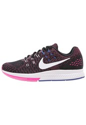 Nike Performance Air Zoom Structure 19 Stabilty Running Shoes Black White Pink Blast Dark Purple Dust Pure Platinum