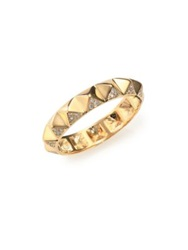 Sydney Evan Diamond And 14K Yellow Gold Pyramid Band Ring