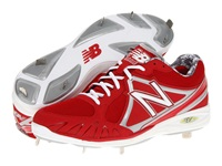 New Balance Mb3000 Metal Low Cut Cleat Red White Men's Cleated Shoes