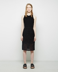 Proenza Schouler Crochet Pencil Skirt Black
