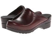 Sanita Sonja Cabrio Bordeaux Women's Clog Mule Shoes Burgundy