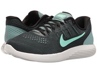 Nike Lunarglide 8 Cannon Black Hasta Green Glow Men's Running Shoes Blue