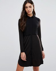 Pieces Pips Shirt Dress Black