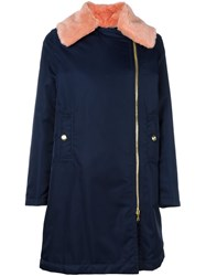 Love Moschino Collar Detail Coat Blue