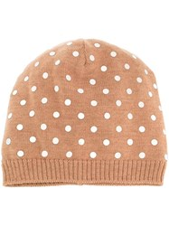 N 21 No21 Sequin Applique Beanie Nude And Neutrals