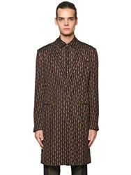Etro Diamond Double Silk Crepe Jacquard Coat