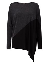 Phase Eight Colourblock Melinda Knit Top Black