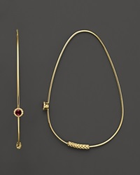 Lagos 18K Gold And Ruby Hoop Earrings Yellow Gold