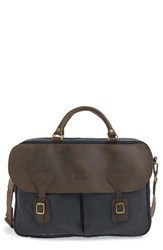 Men's Barbour Waxed Canvas Briefcase