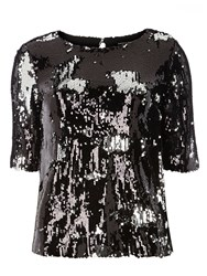 Dorothy Perkins Sparkle Sequin Shell Top Metallic