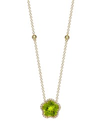 Grace Flower Green Peridot And Diamond Necklace Kiki Mcdonough Black
