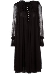 Philosophy Di Lorenzo Serafini Semi Sheer Pleated Dress Black