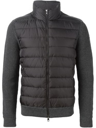Moncler Padded Panel Knitted Jacket Grey