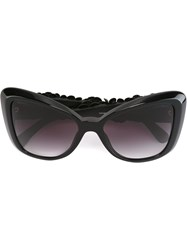 Chanel 'Camelia Special' Sunglasses Black
