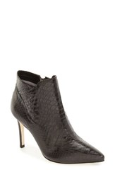 Johnston And Murphy Women's 'Valerie' Pointy Toe Bootie Brown Snake Print Leather