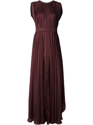 Maison Rabih Kayrouz Draped Sleeveless Gown Pink And Purple