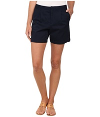 Dockers Pleated Front Shorts Deep Night Women's Shorts Blue