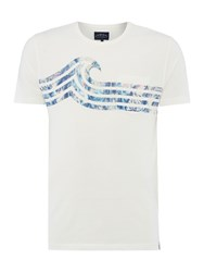 Criminal Wave Graphic Tshirt Off White