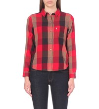 Levi's Faye Flannel Shirt Sumac Tango Red Plaid