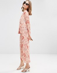 Asos Floral Pyjama Trousers Co Ord Dusky Pink Floral