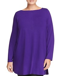 Eileen Fisher Plus Boat Neck Seamed Tunic Ultrviolet