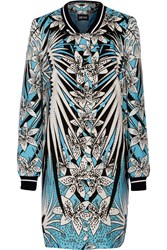 Just Cavalli Printed Canvas Coat Blue