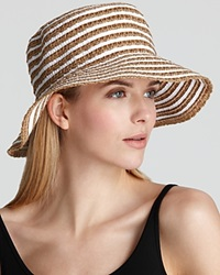 Eric Javits Braid Dame Multicolor Bucket Hat White Mix