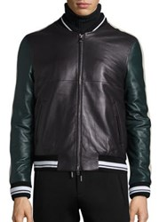 Plac Retro Spectrum Colorblock Lambskin Leather Jacket Brown