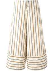 See By Chloe Striped Cropped Trousers Nude Neutrals