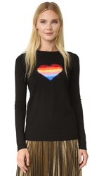 Bella Freud Rainbow Heart Jumper Black