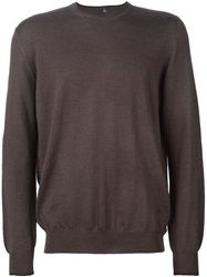 Fay Crew Neck Sweater Brown