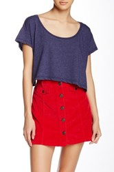 American Apparel Loose Crop Top Blue