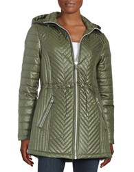 Karl Lagerfeld Quilted Jacket Olive