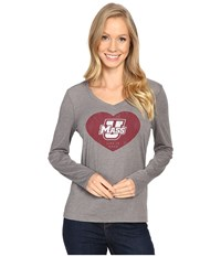 Life Is Good Heart Long Sleeve Tee Slate Grey Women's T Shirt Multi