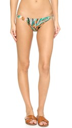 Milly Tropical Leaf Print Bikini Bottoms Multi